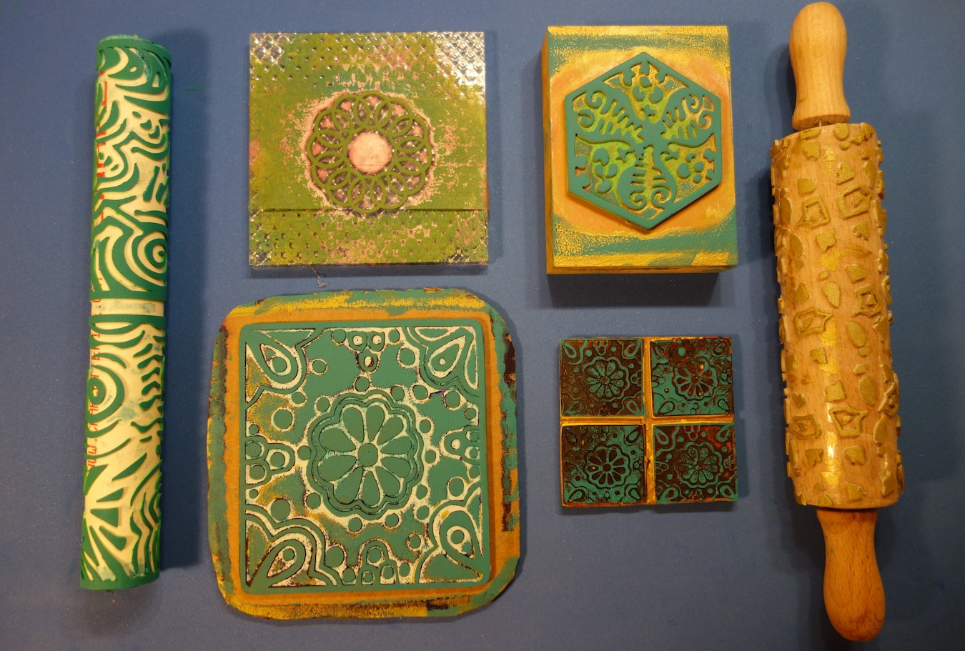 Luann kessi printing with moldable foam stamps