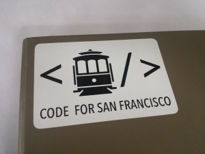 code for san francisco sticker
