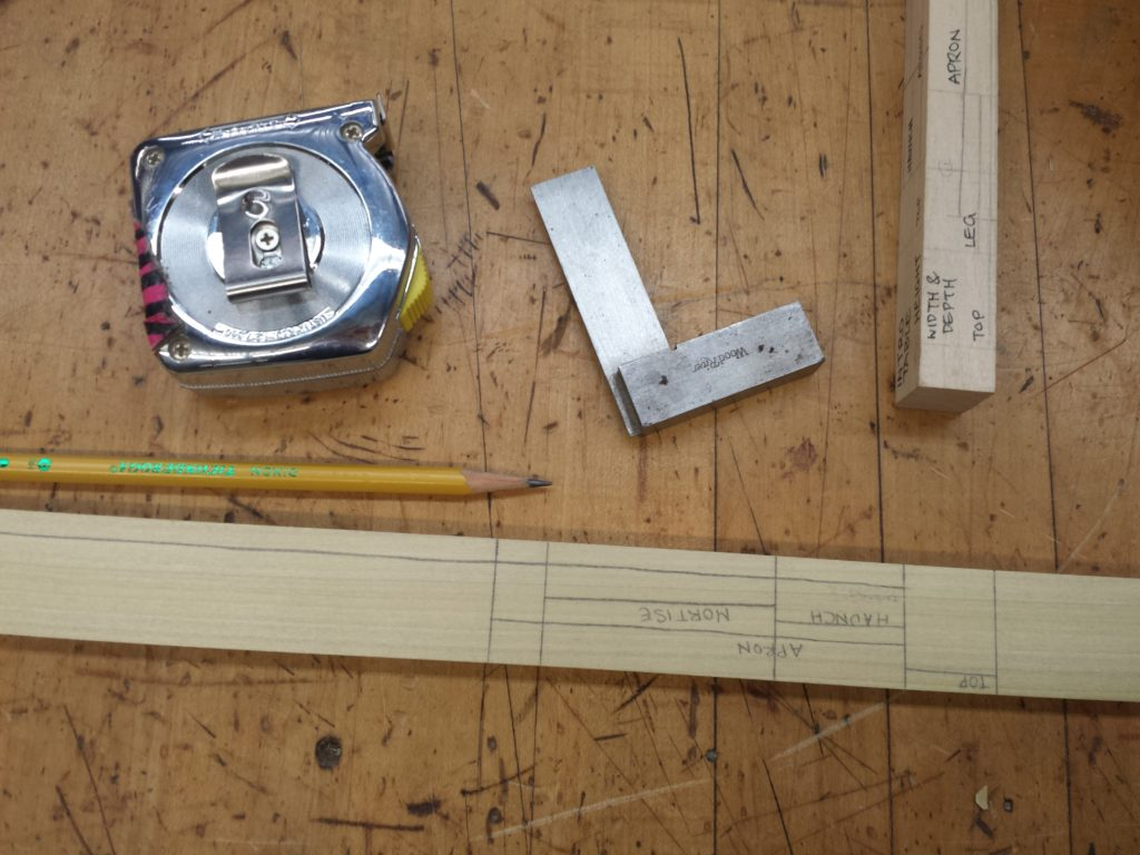 story stick and measuring tools